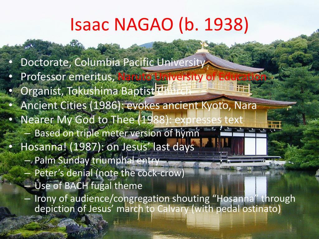 Isaac NAGAO (b. 1938)