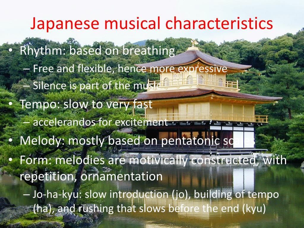Japanese musical characteristics