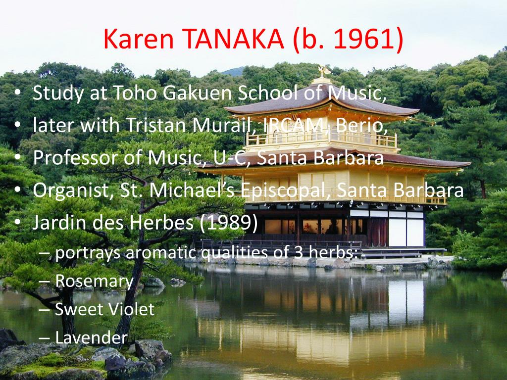 Karen TANAKA (b. 1961)