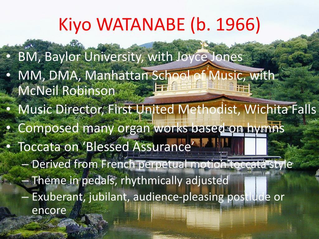 Kiyo WATANABE (b. 1966)
