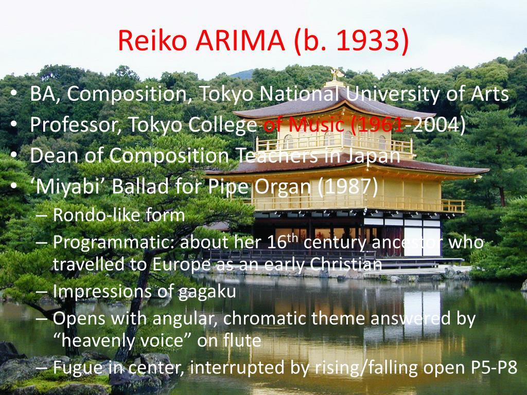 Reiko ARIMA (b. 1933)