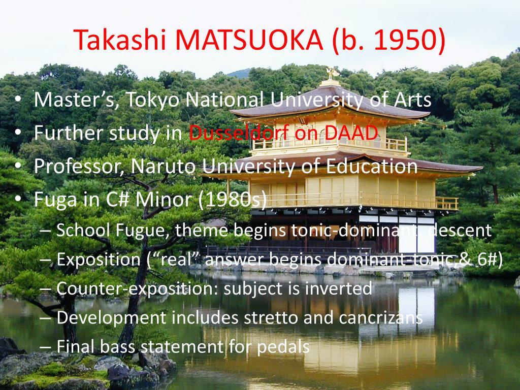 Takashi MATSUOKA (b. 1950)