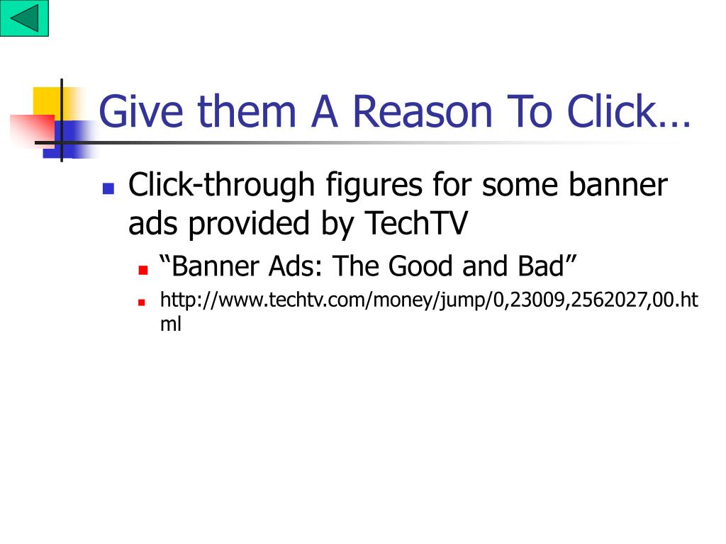 Give them A Reason To Click…