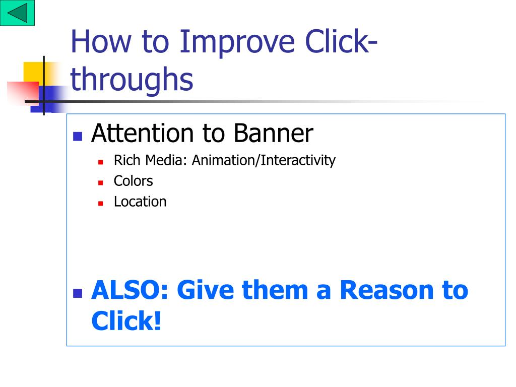 How to Improve Click-throughs