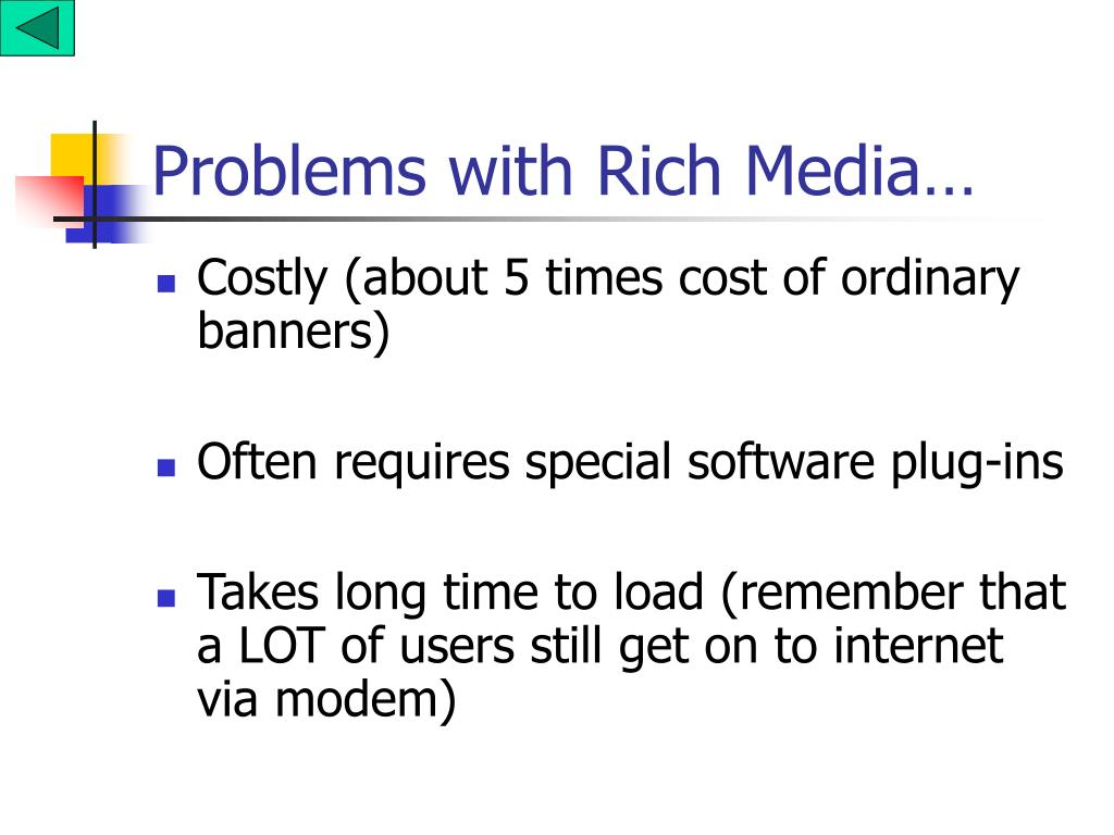 Problems with Rich Media…