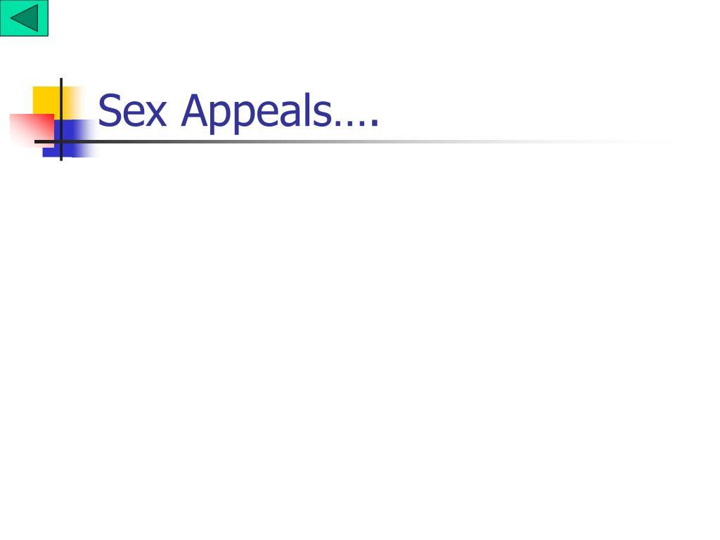 Sex Appeals….