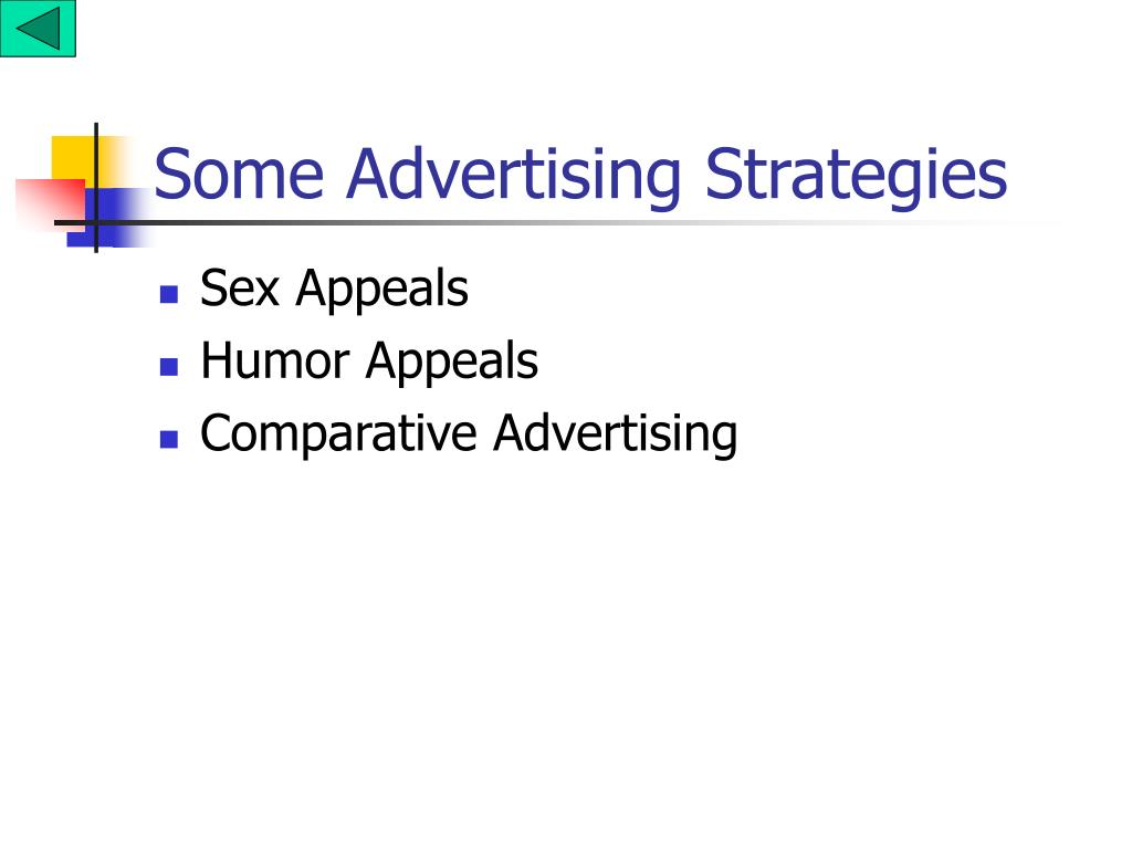 Some Advertising Strategies