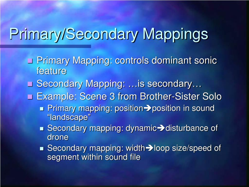 Primary/Secondary Mappings