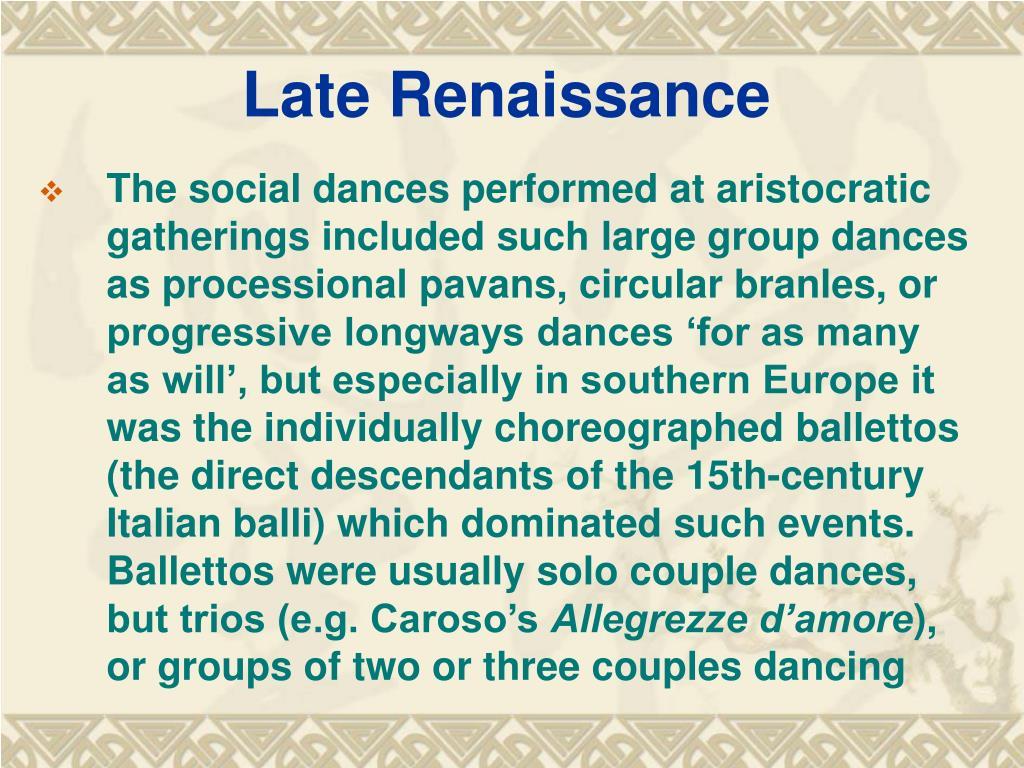 Late Renaissance