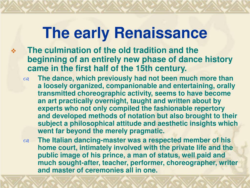 The early Renaissance