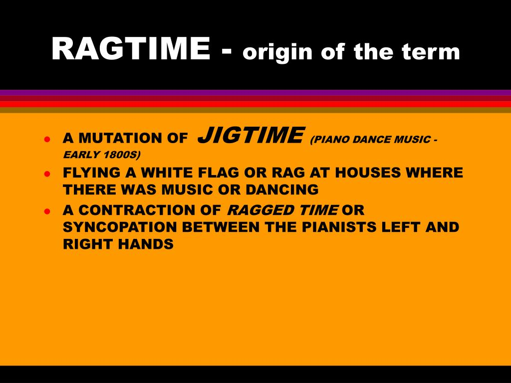 RAGTIME -