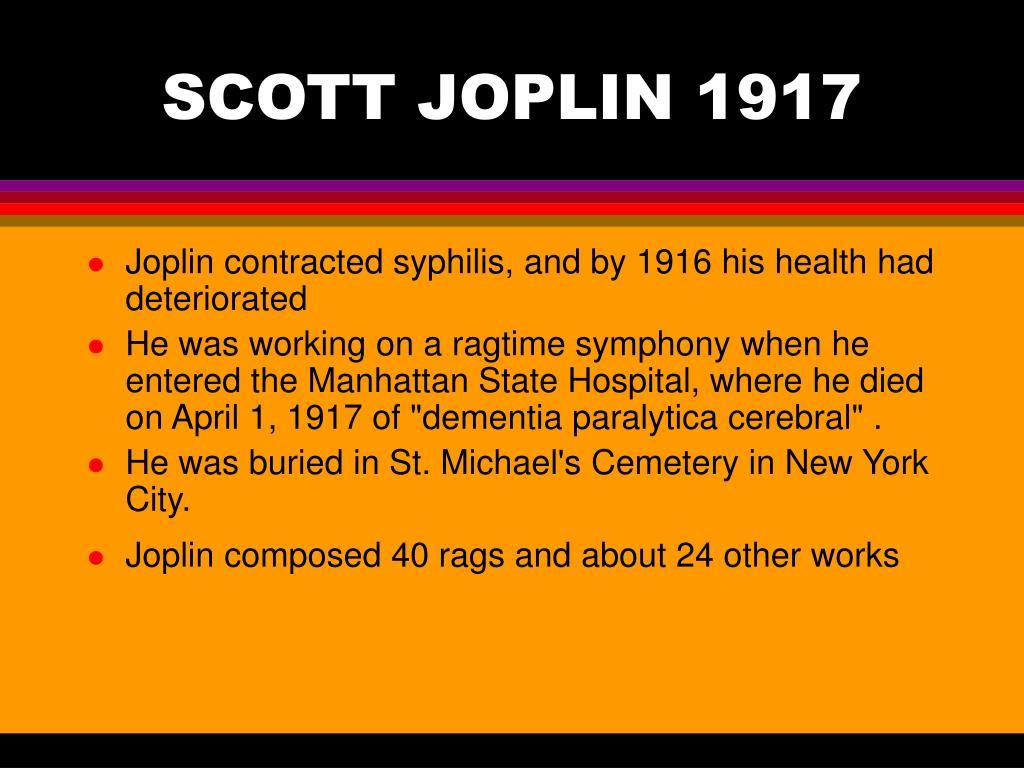SCOTT JOPLIN 1917