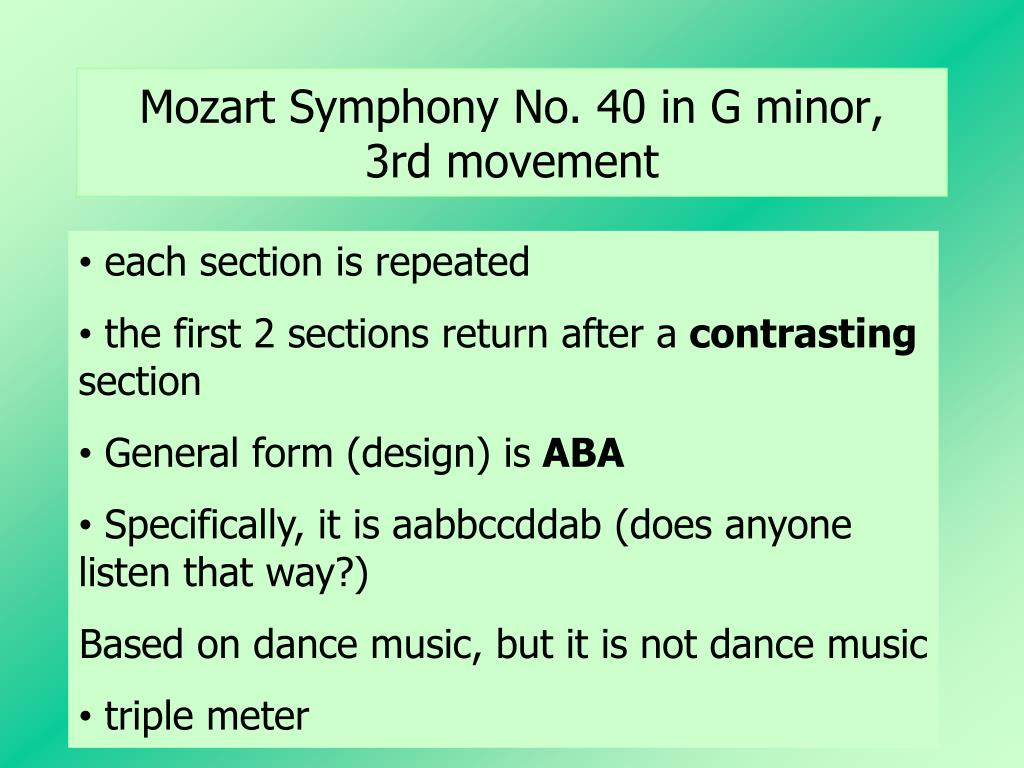 Mozart Symphony No. 40 in G minor,