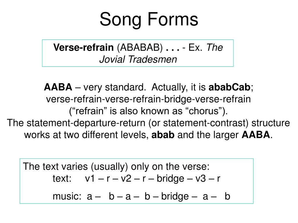 Song Forms