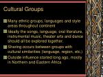 cultural groups
