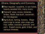 ghana geography and economy