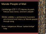 mande people of mali