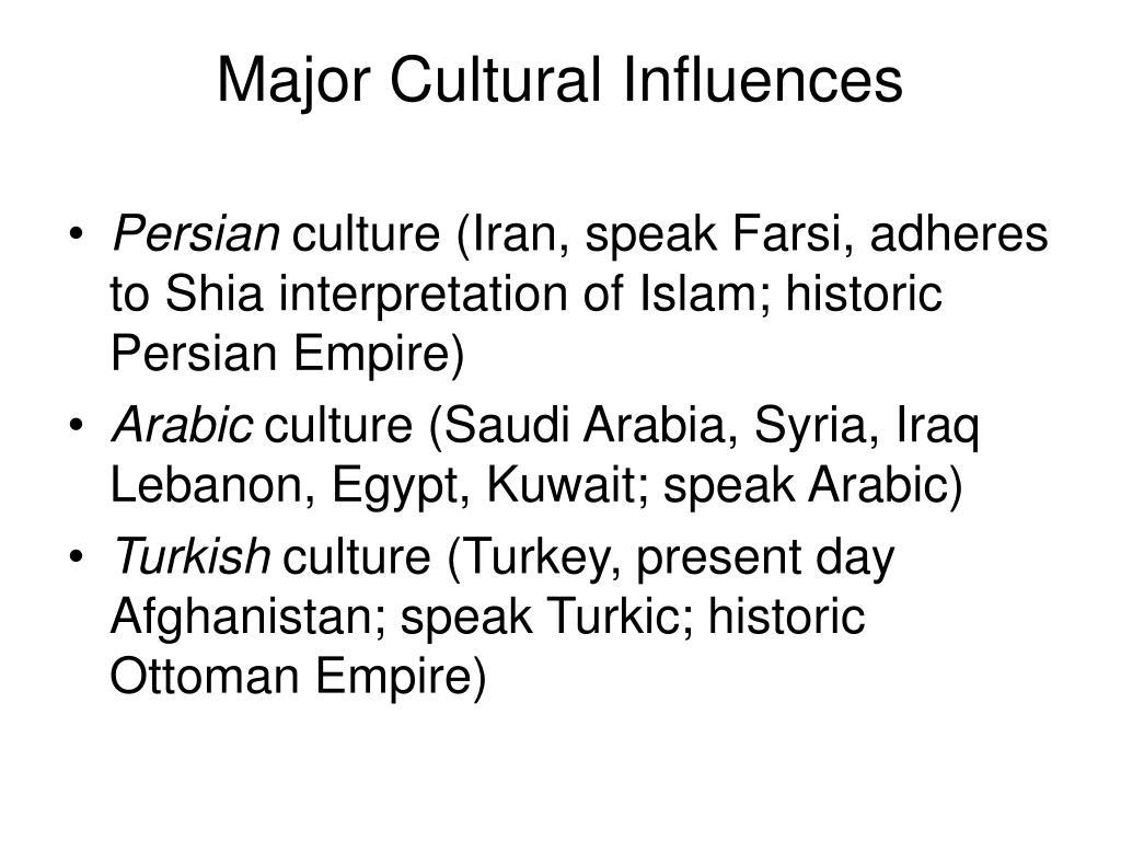 Major Cultural Influences