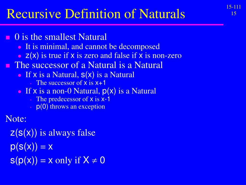 Recursive Definition of Naturals
