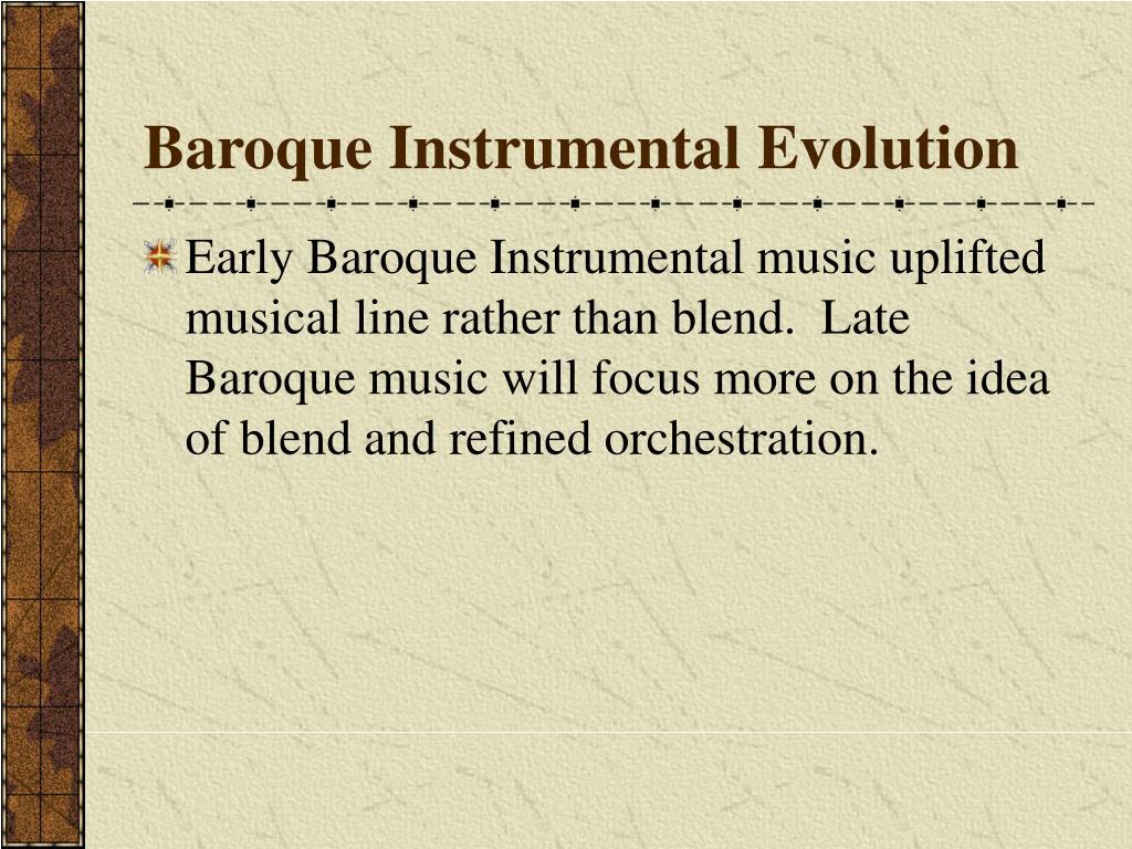 Baroque Instrumental Evolution