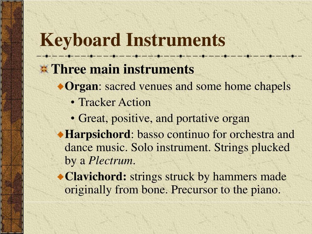 Keyboard Instruments