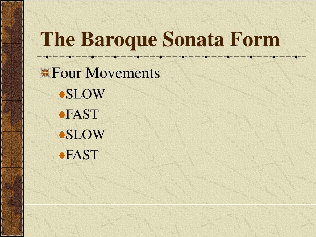 The Baroque Sonata Form