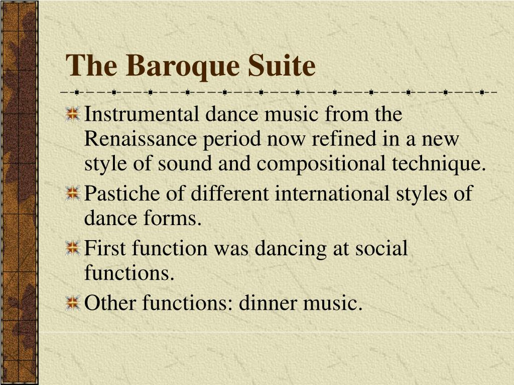 The Baroque Suite