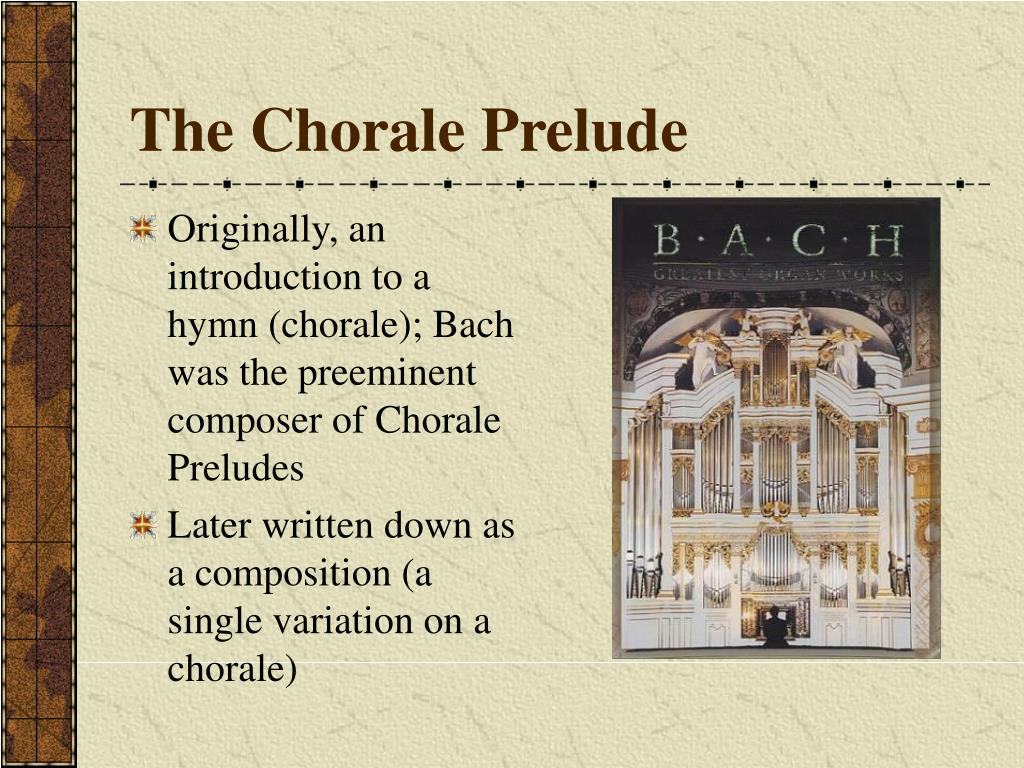The Chorale Prelude