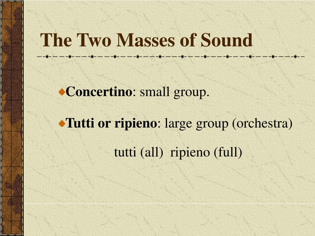 The Two Masses of Sound