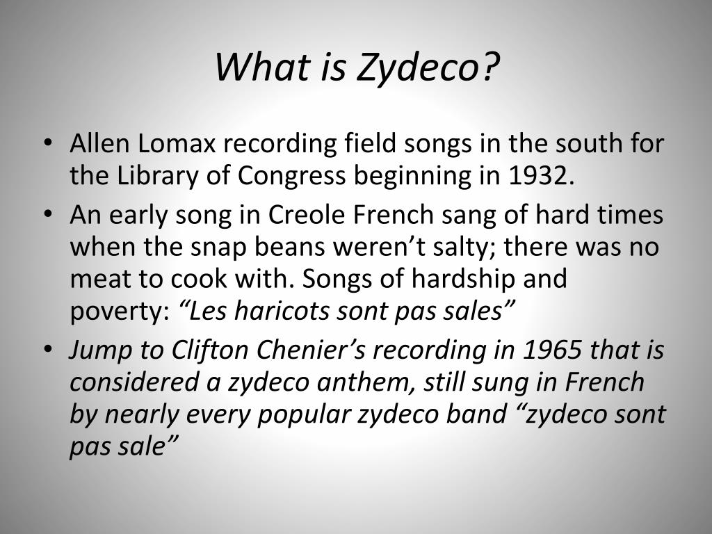 What is Zydeco?