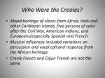 who were the creoles