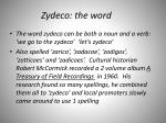 zydeco the word