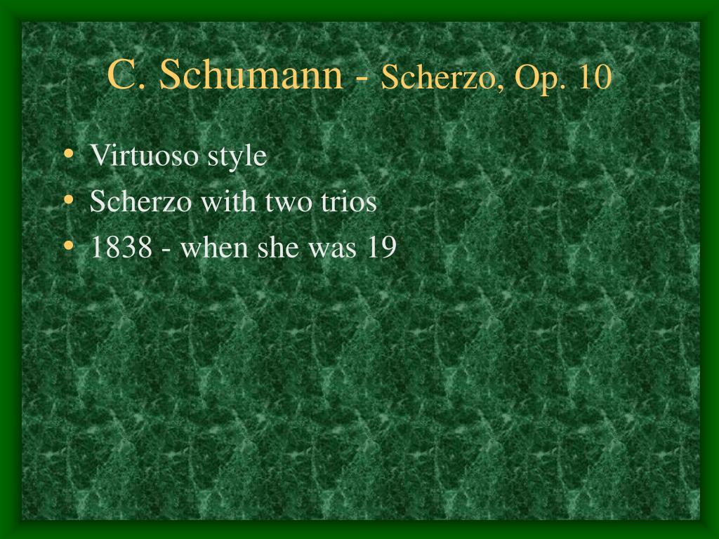 C. Schumann -