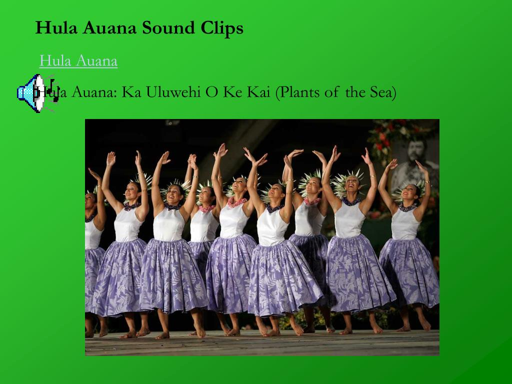 Hula Auana Sound Clips