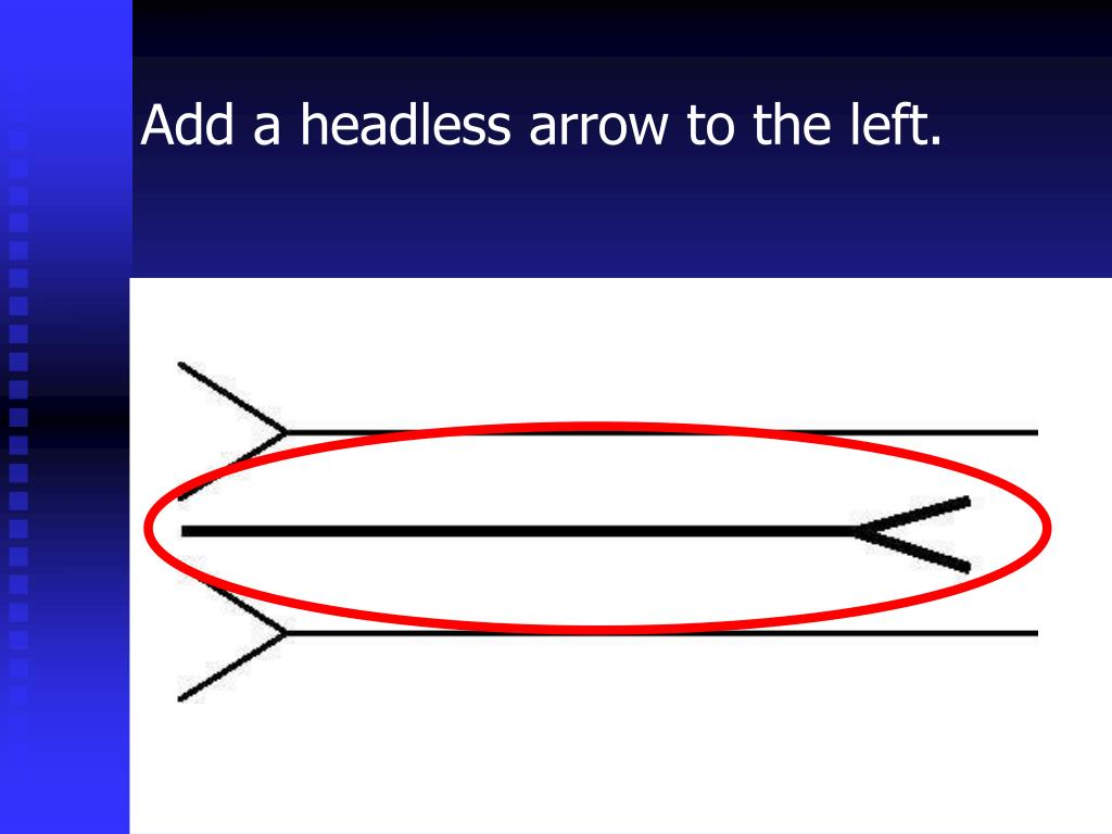 Add a headless arrow to the left.