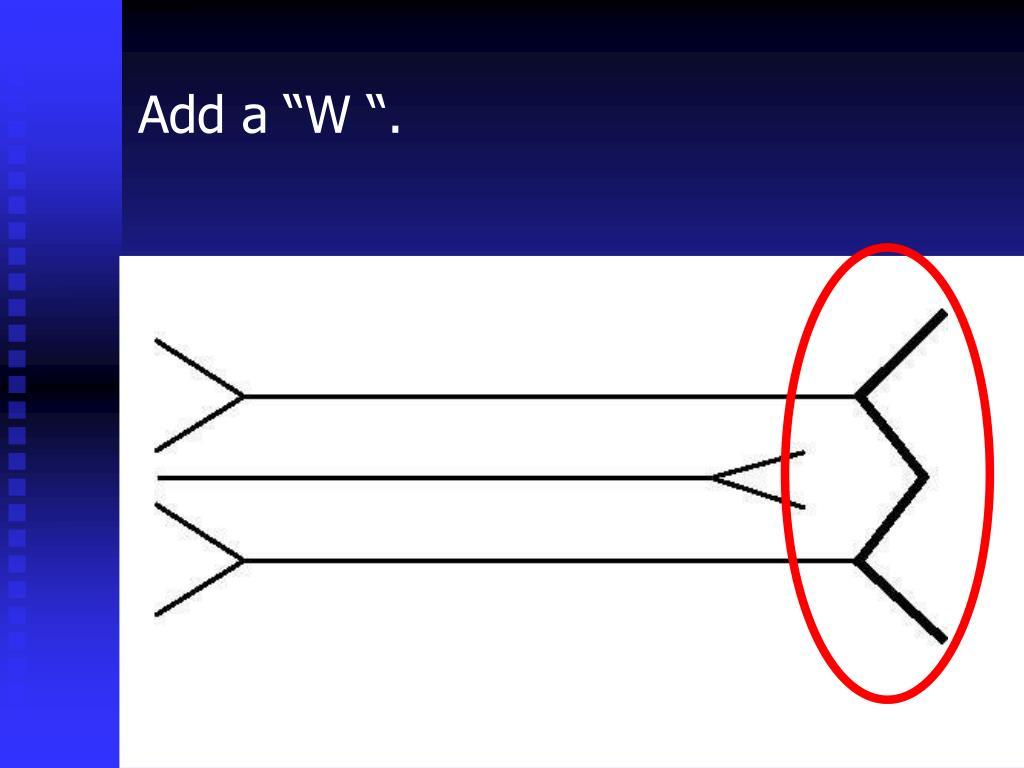 """Add a """"W """"."""