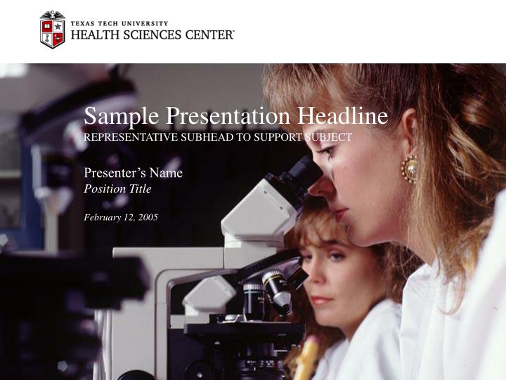 Sample presentation headline representative subhead to support subject3