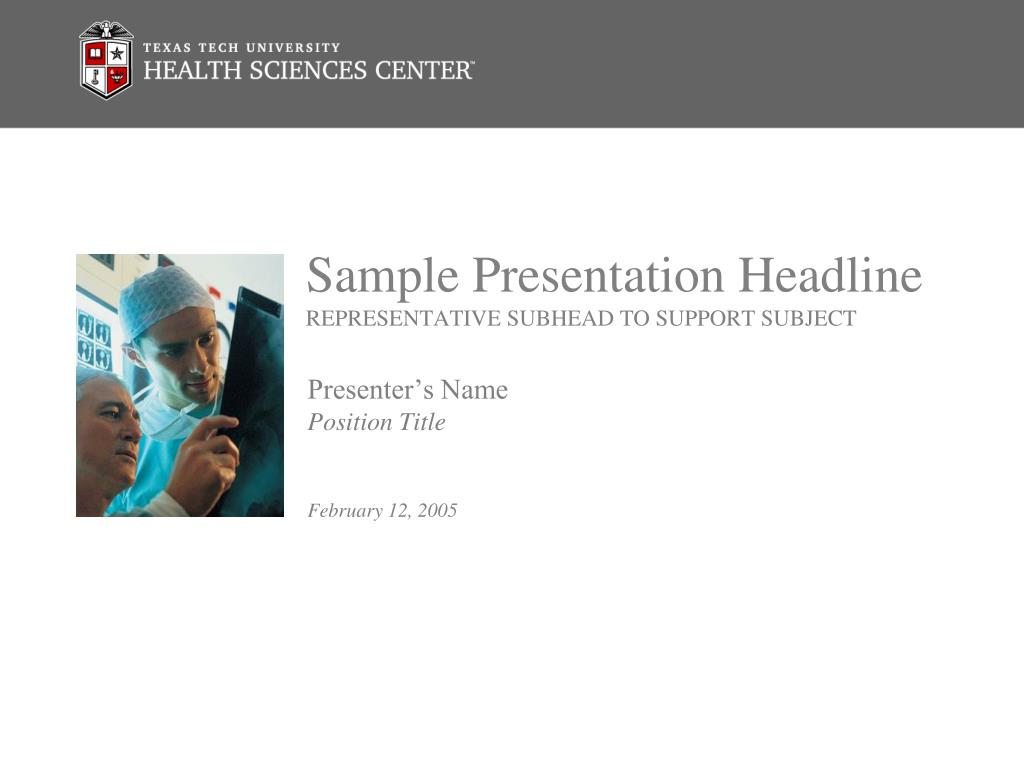 Sample Presentation Headline