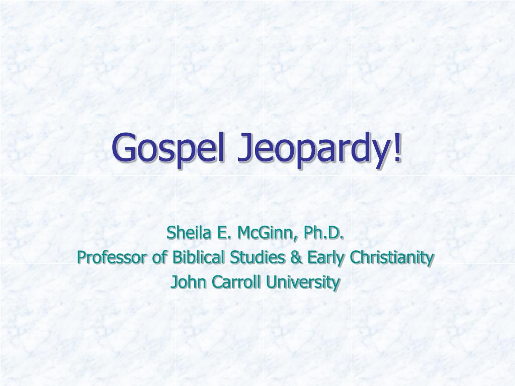 Gospel Jeopardy!