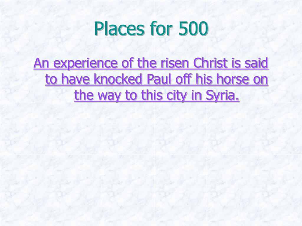 Places for 500