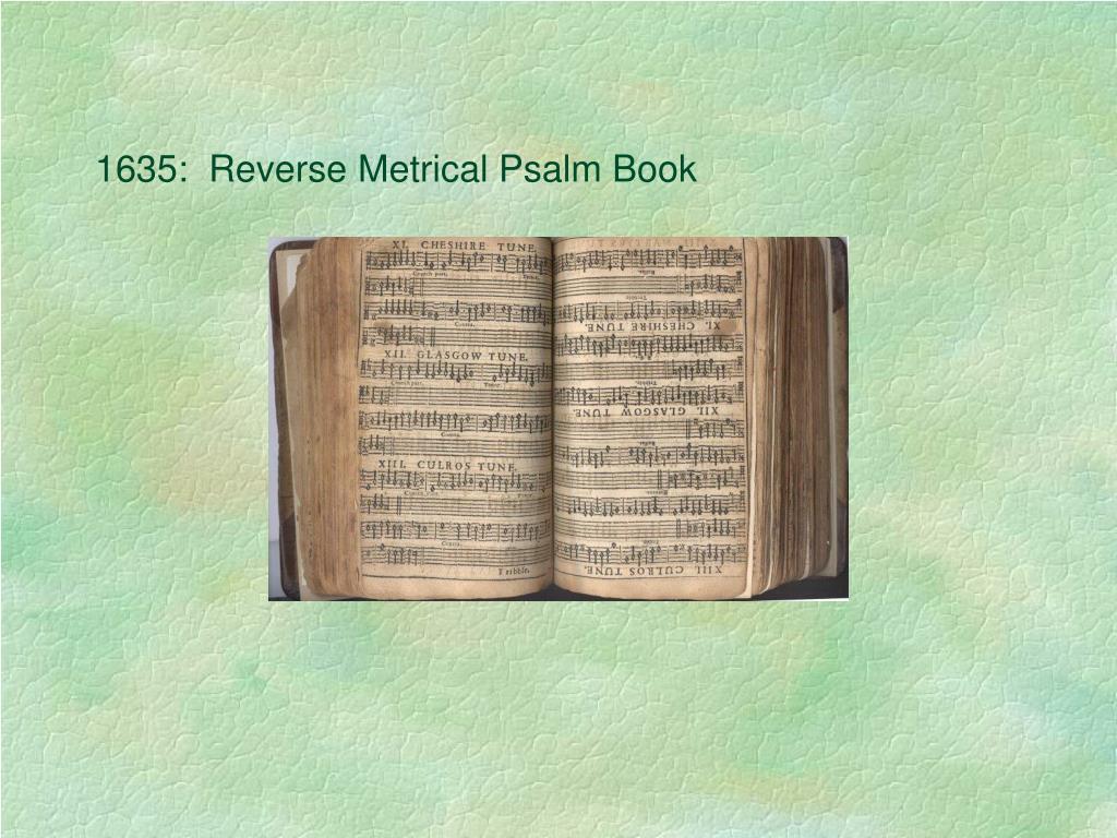 1635:  Reverse Metrical Psalm Book