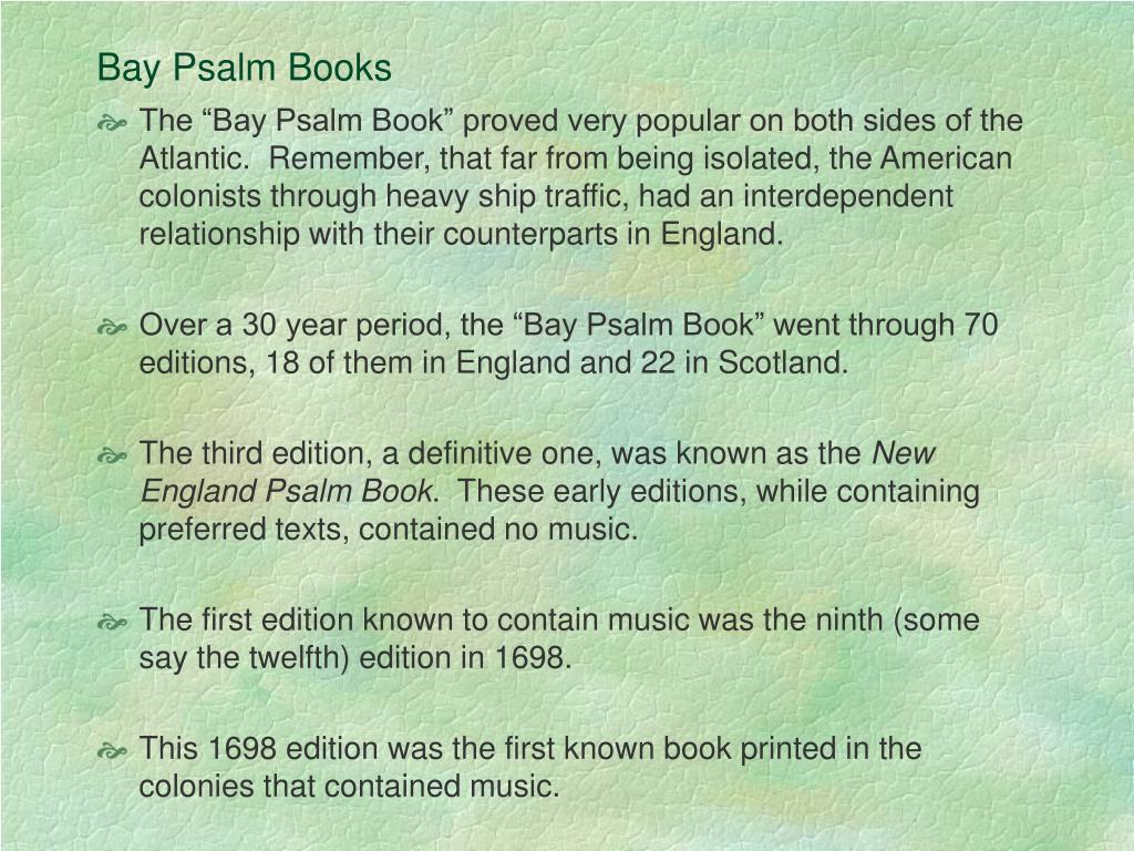 Bay Psalm Books