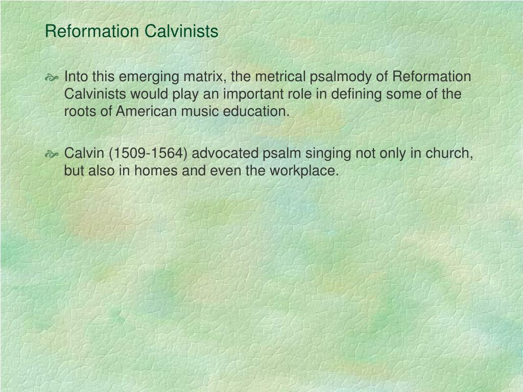 Reformation Calvinists