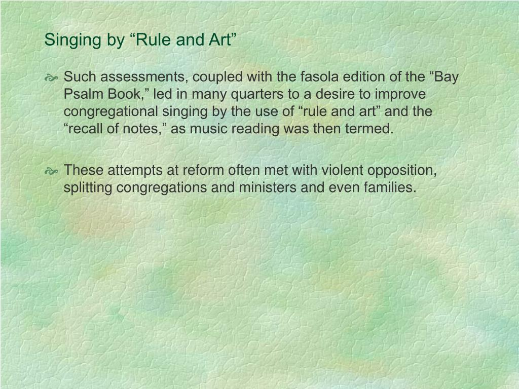 """Singing by """"Rule and Art"""""""