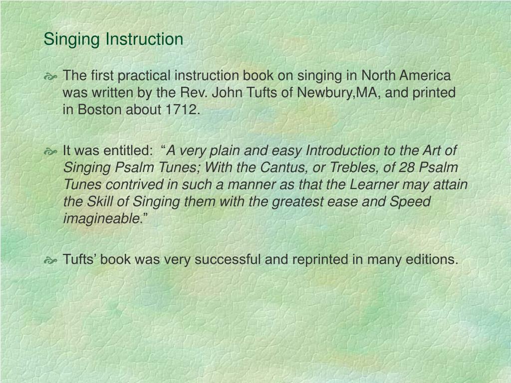 Singing Instruction