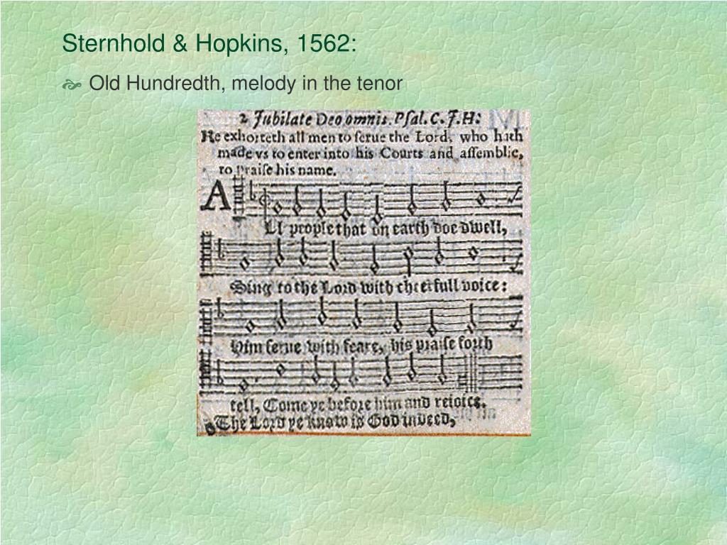 Sternhold & Hopkins, 1562:
