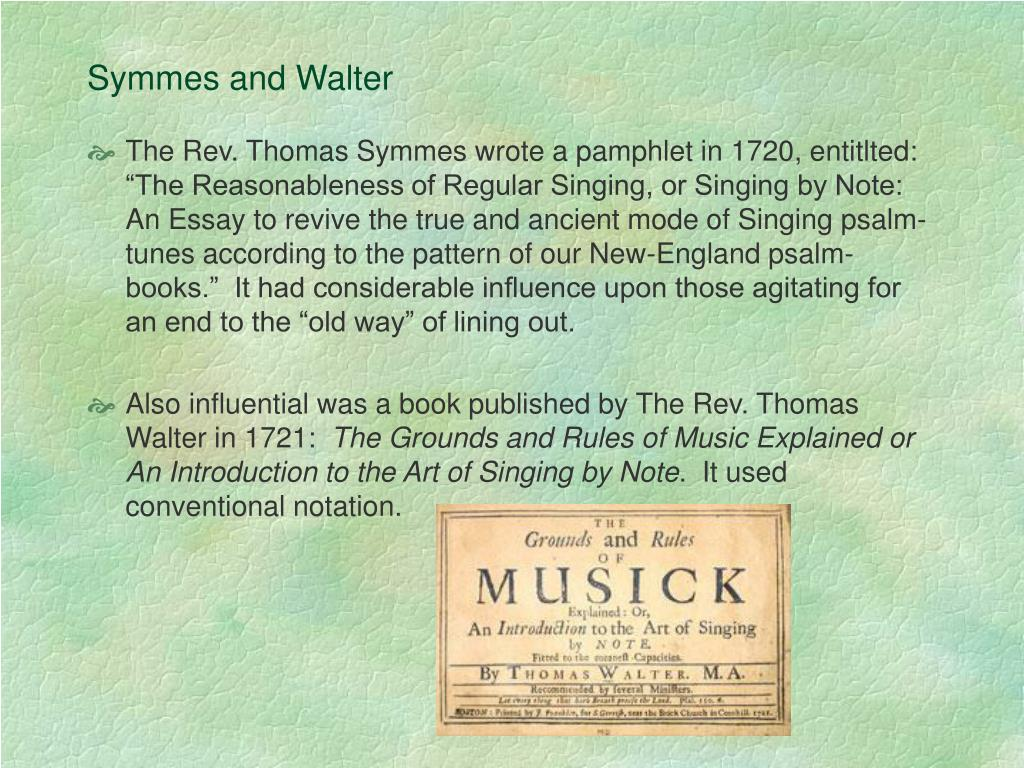 Symmes and Walter