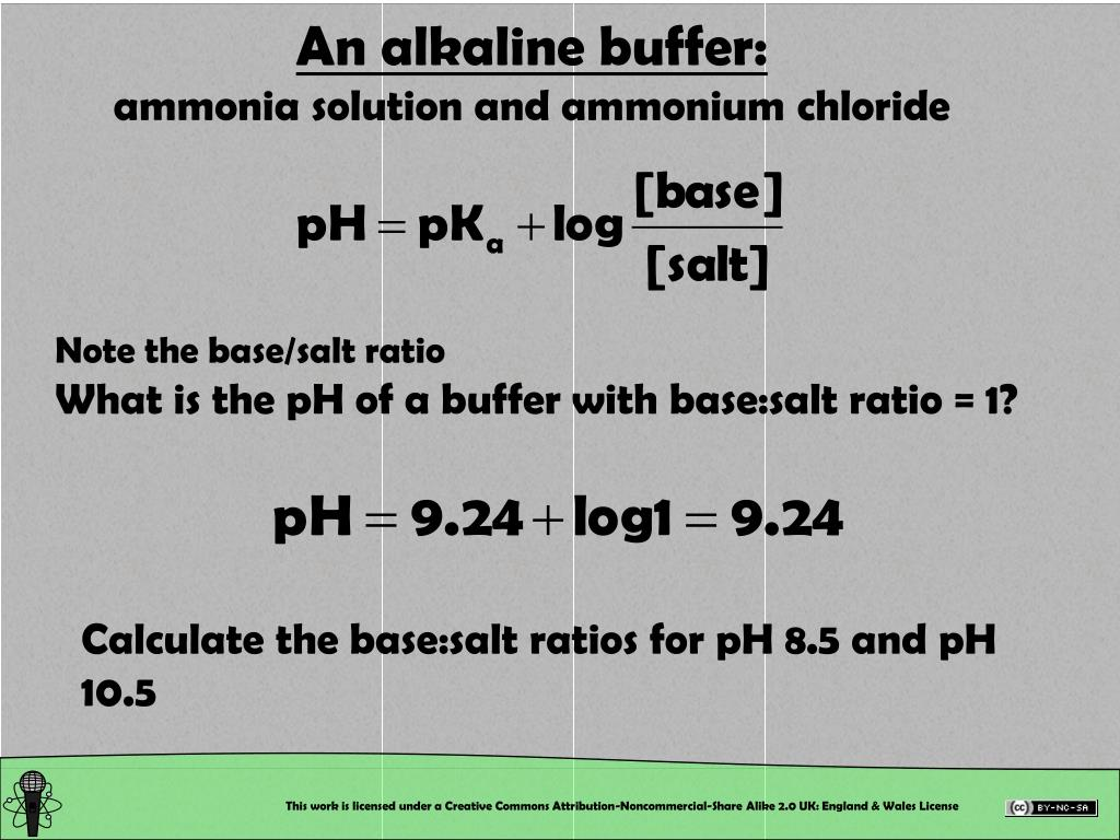 An alkaline buffer: