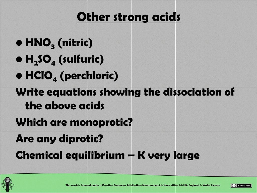 Other strong acids