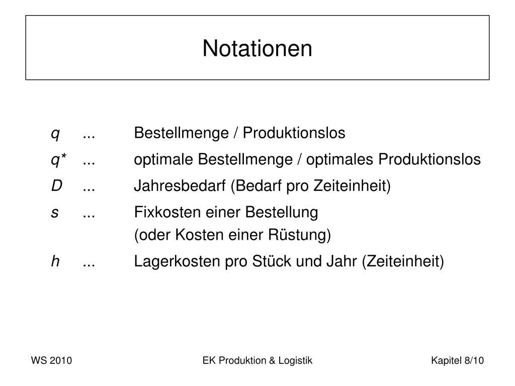 Notationen